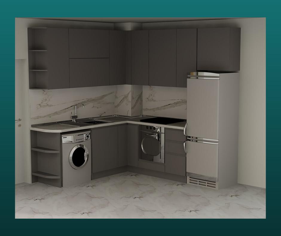 проект на сива кухня